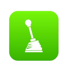 Gear stick icon digital green vector