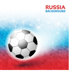 Geometric background russia 2018 flag soccer vector