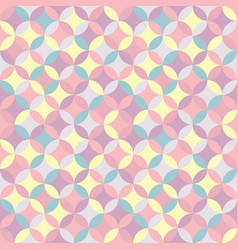 geometric seamless pastel pattern vector image