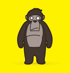 gorilla cartoon graphic vector image