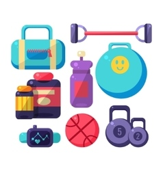 Gym Inventory Items Set vector image