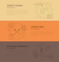 Honey Banner Collection vector