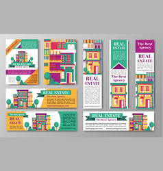 House estate and the bet agency flyers vector