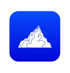 iceberg icon digital blue vector image