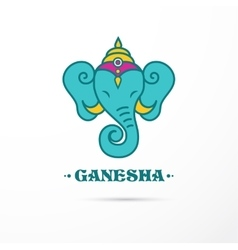 India - ganesha indian icon vector