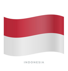 Indonesia waving flag icon vector