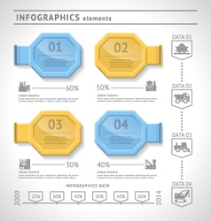 Industrial infographics elements vector