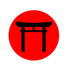 japanese torii icon vector image