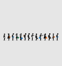 job seekers or office workers and employee vector image