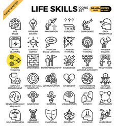 Life skills concept icons vector
