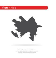 map azerbaijan isolated vector image
