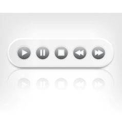 media player interface with reflection vector image