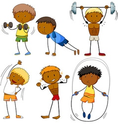 Men doing different kinds sports vector