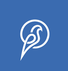 Modern professional sign logo dove bird vector