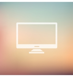 Monitor in flat style icon vector