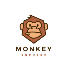 monkey chimp gorilla logo icon vector image