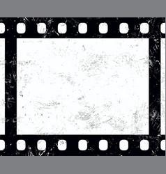 Old vintage retro 35 mm grunge film frame vector