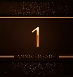 One years anniversary celebration logotype vector