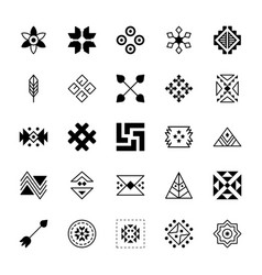 Pack tribal symbols collection vector