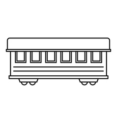 Passenger train car icon outline style vector