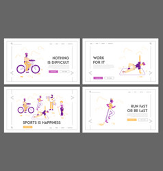 people healthy lifestyle and sport activity vector image