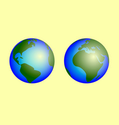 planet earth on white background vector image
