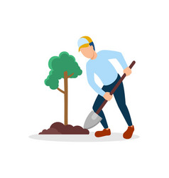 plant-trees vector image