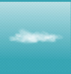 realistic white fluffy cloud isolated on vector image
