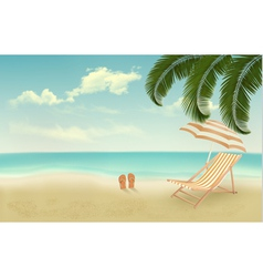 Retro summer vacation background vector image