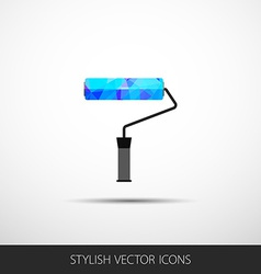 roller in a flat style with shadow vector image