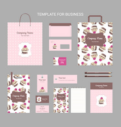 Set of corporate vintage style confectionery vector