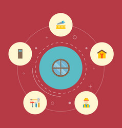 set of industry icons flat style symbols with door vector image