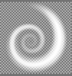 spiral of light white color vector image