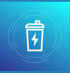 sport shaker line icon vector image