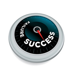 Success and failure meter concept vector