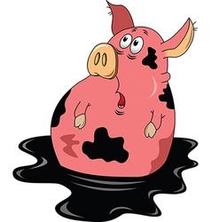 Suprised pig cartoon vector