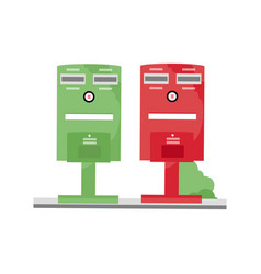 taiwan post box vector image