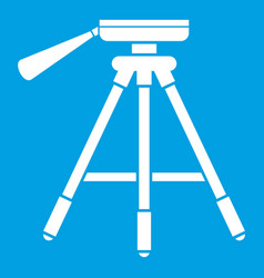 Tripod icon white vector