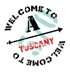 Tuscany stamp rubber grunge vector