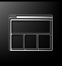 web window sign gray 3d printed icon on vector image