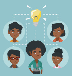 african business women discussing business idea vector image vector image