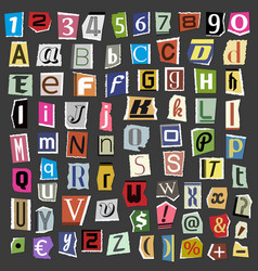 collage alphabet letters made from vector image