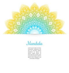 Color Mandala background vector image