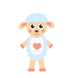 Cute cartoon character sheep Children s toy sheep vector image