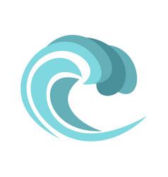 round wave icon cartoon style vector image