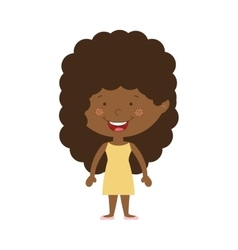 silhouette afro girl with dress vector image vector image