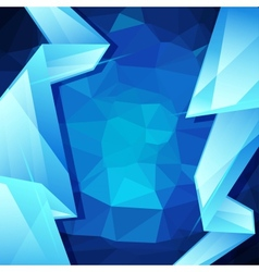 Abstract geometric background design template vector image vector image
