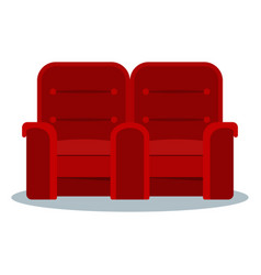 cinema red doubled armchair vector image vector image