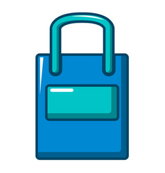 eco bag icon cartoon style vector image