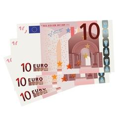 10 Euro bills vector image vector image
